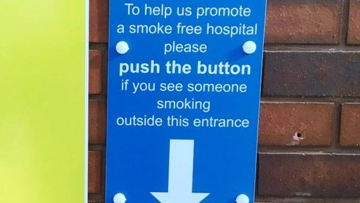smoking alarm hospital