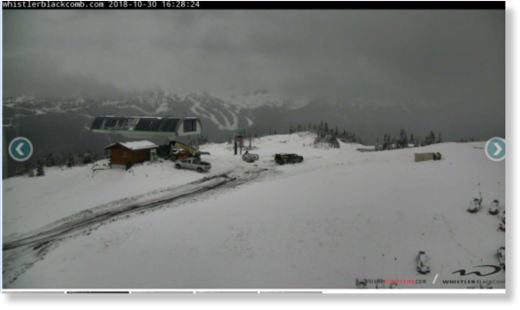 Whistler Backcomb after 10cms up high on Oct 30