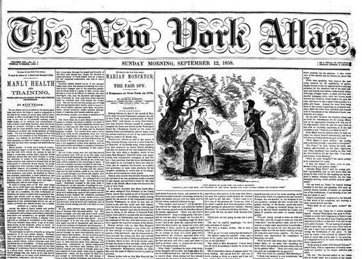 front page New York Atlas walt whitman