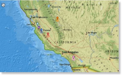 California Hit By 39 Earthquakes