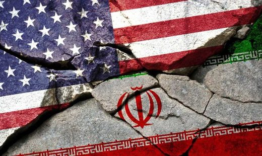 US Iran flag