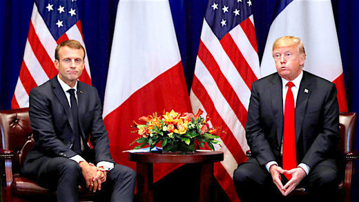 Presidents Trump and Macron
