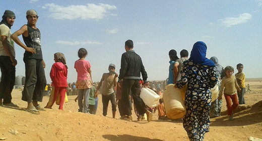 Refugees Rukban camp Syria