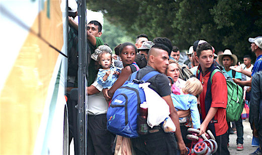 Migrants busses denial
