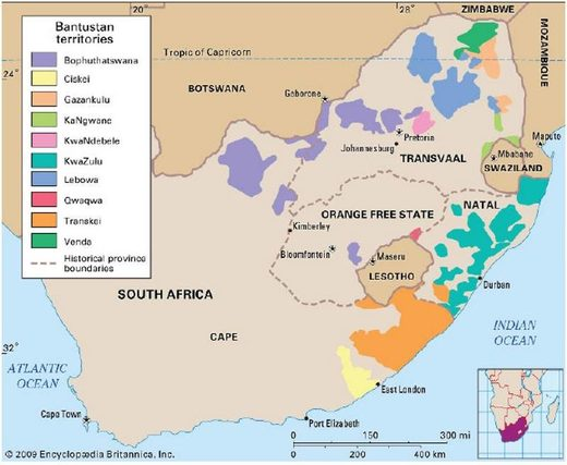 South africa apartheid bantustans
