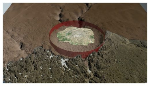 Greenland impact crater
