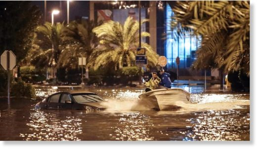 It might be fun for some, but Kuwait is reeling from torrential rains.