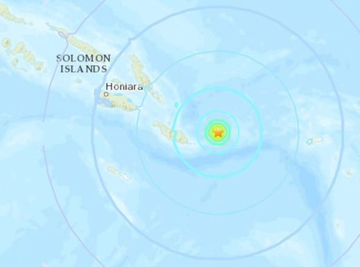 Soloman Islands quake map