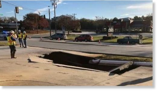 sinkhole greenvillea day ago Sinkhole opens in Greenville, SC,