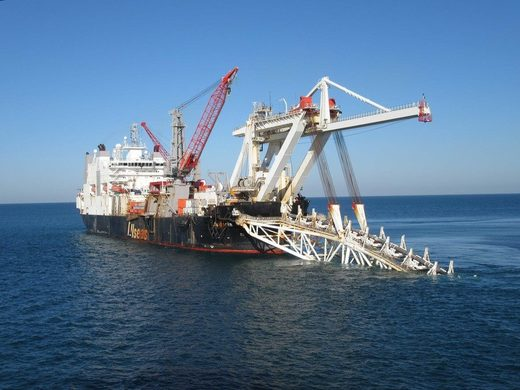 Audacia pipe-laying vessel