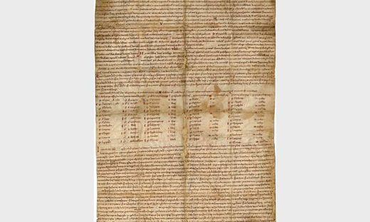 Foundation charter for the abbey at Burton-upon-Trent.