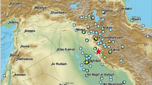 earthquake iran iraq novermber 2018 6.3