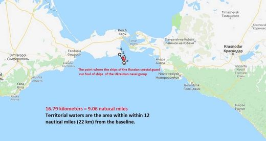 Ukraine kerch bridge map