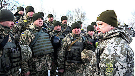 Poroshenko/troops