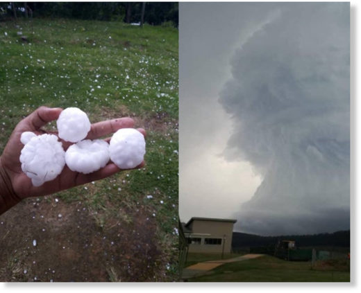Photos of the hailstorm circulated on social media.