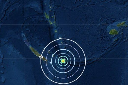 A 6.2 magnitude quake has hit the South Pacific French territory of New Caledonia