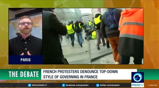 Niall Braldy presstv paris protests