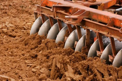 soil plow field