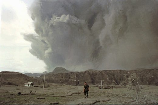 Mt. Pinatubo eruption on June 19, 1991.