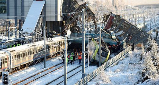 Train crash Ankara
