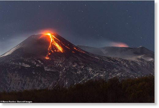 The 700,000-year-old volcano is a huge 24 miles wide and is virtually active constantly.