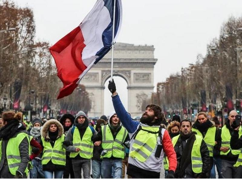 Image result for yellow vests, Valery Hache, photos