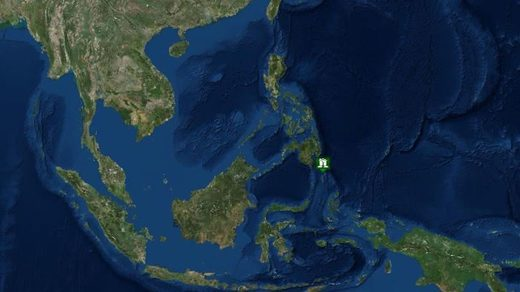 The earthquake struck off the southern Philippine island of Mindanao
