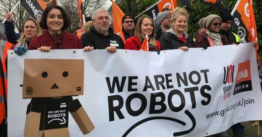 Amazon warehouse workers protest