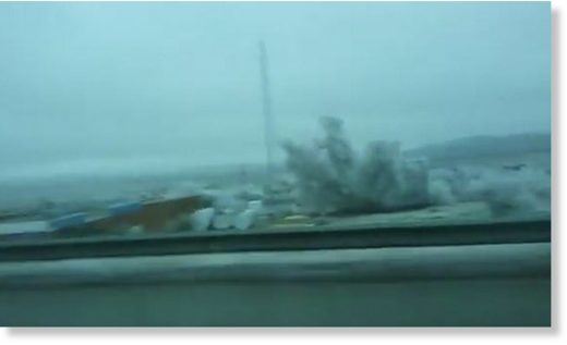 Footage taken from a car window near El Paso, Texas, shows the usually arid desert blanketed in snow as the West and Southwest of the United States are hit by cold weather
