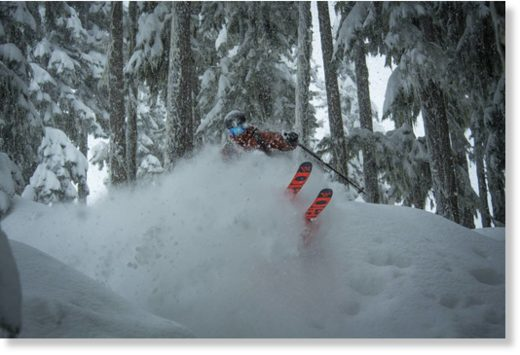 Athlete Mark Abma, captured on Whistler, after the early January snowfall.
