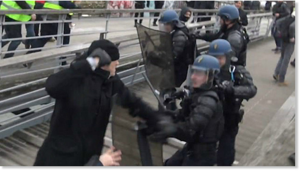 Cops pounding