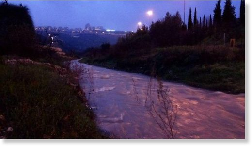 Strong currents in Jerusalem rivers