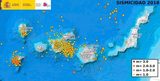 Seismic activity in Canary Islands
