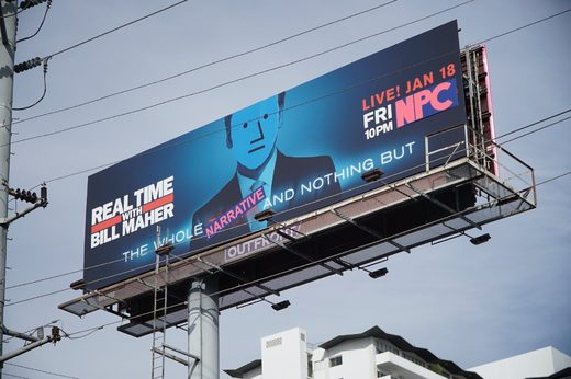 bill maher NPC billboard