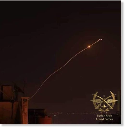 Syrian air defences hit an Israeli missile