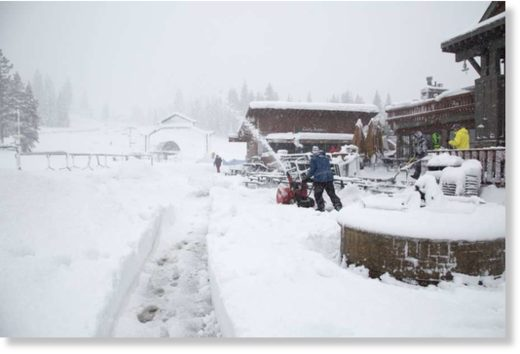 Northstar reported 26 inches of snow in 24 hours Thursday morning.