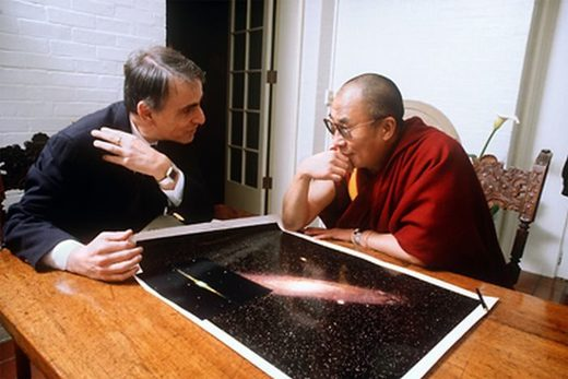Carl Sagan and Dalai Llama