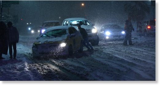 Heavy snowfall created traffic problems in areas of the Kingdom on Wednesday night