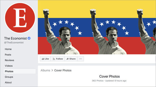 Economist facebook banner  Juan Guaido