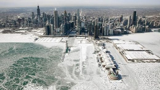 An aerial view of Chicago