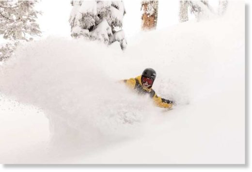 Andy Finch, ripping into some fresh powder