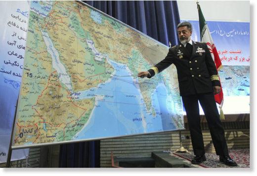 Iran's navy chief Adm. Habibollah Sayyari