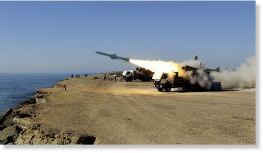 A Ghader test missile