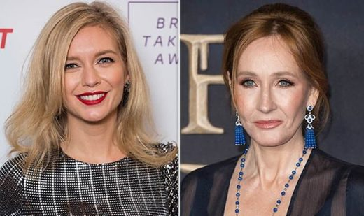 Rachel Riley and JK Rowling