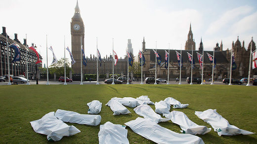 body bag protest