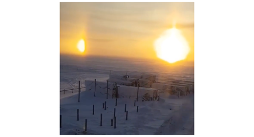 Three suns over Yamala-Nenets, Russia