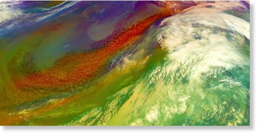 An atmospheric river is channeling moisture near Hawaii toward the West Coast, bringing immense rain and snow.