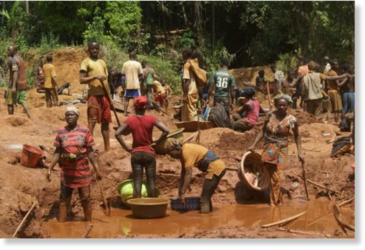 In spite of the glaring safety risks, alluvial miners relentlessly swarm the area, looking for gold.