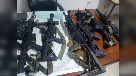 guns seized by Haitian government