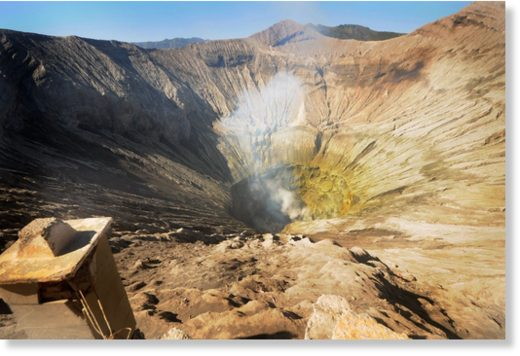 The crater of Mount Bromo has a diameter of